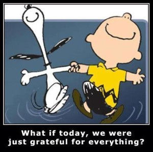 Gratitude cartoon Charlie Brown